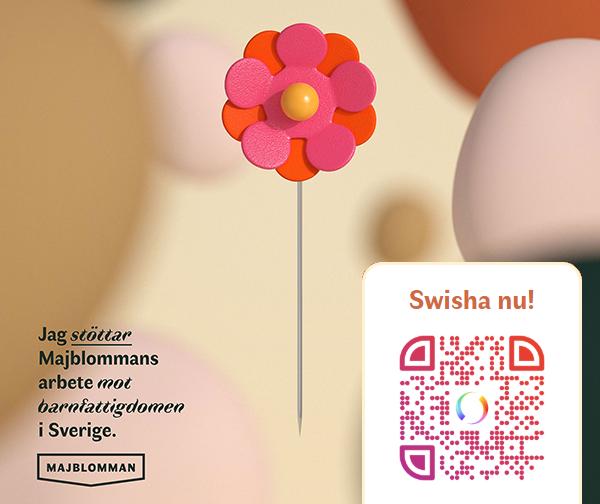digital-blomma, med QR-kod